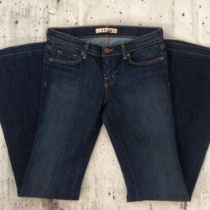 J Brand low rise flare jeans